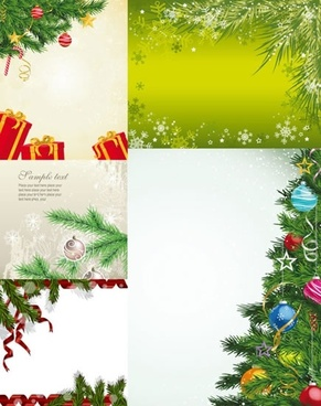xmas background templates colorful modern elegant design