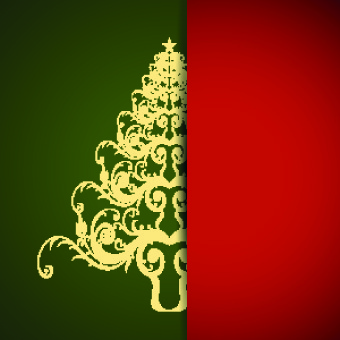 christmas tree with background vector