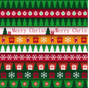 christmas tree with ornament seamless pattern vector