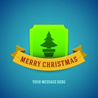 christmas tree with ribbon vector background