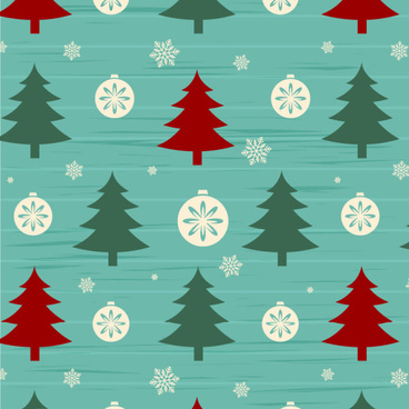 christmas tree with snow seamless pattern vector