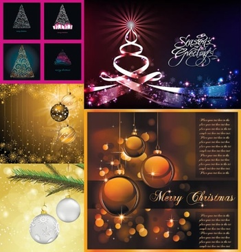 christmas background templates sparkling elegant decor