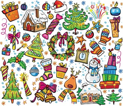 christmas vector illustration cute