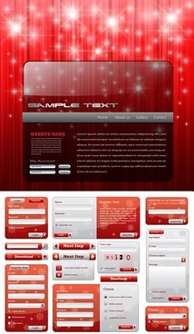 christmas web templates sparkling lights modern red decor