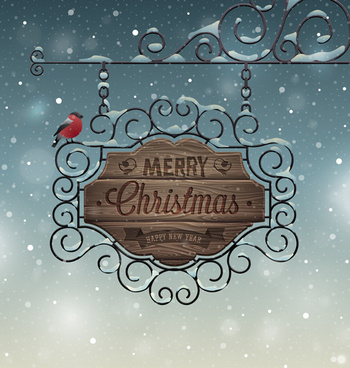 christmas with14 new year creative background set