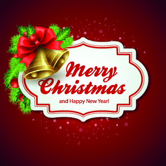 christmas with happy new year cute cards vector