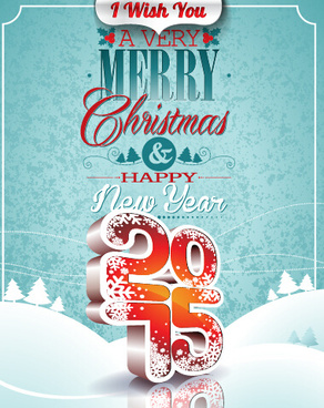 christmas with new year15 creative vector