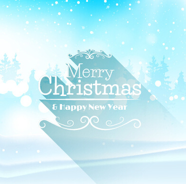 christmas with new year snow background