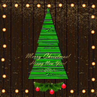 christmas wood background vector