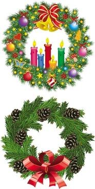 christmas wreath 1 vector