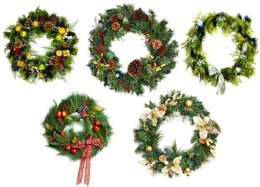 christmas wreath definition picture