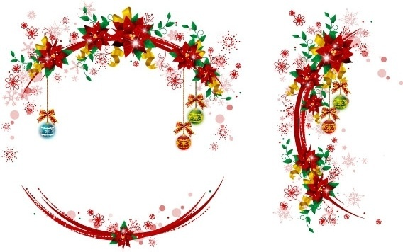 Christmas Wreath Border Free Vector Download (12,432 Free