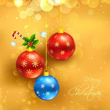 Christmas Yellow Background