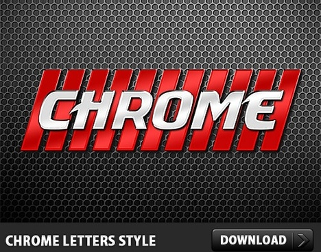 Chrome Letters Style Made in Photoshop