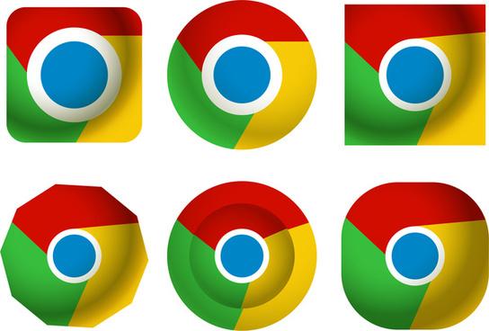 chrome style logo design