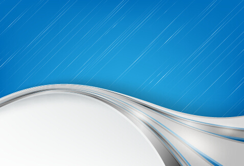 chrome wave with abstract background vector