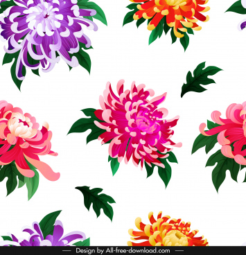chrysanthemum petals background colorful repeating decor