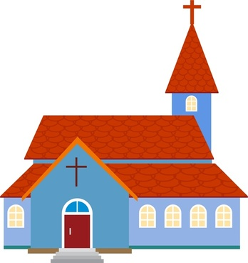 church architecture design red tile and classical style