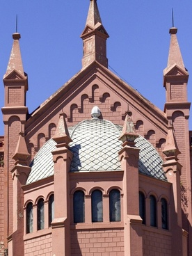 church dome towers