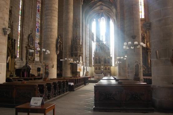 church inside light