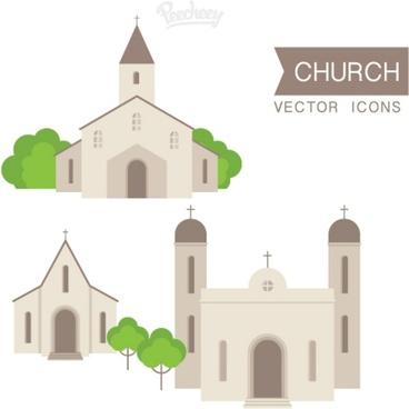 church set illustration