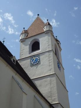 church tower blue