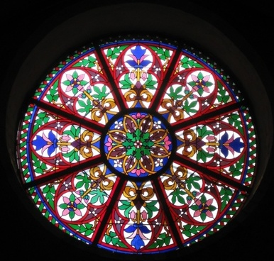 church window stained glass architecture