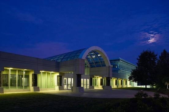 cia headquarter building night
