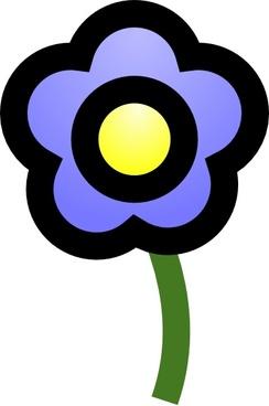 Cie Blue Flower clip art