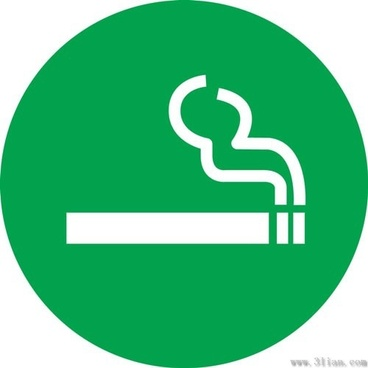 cigarette icons vector green background