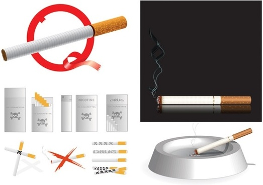 cigarette theme vector