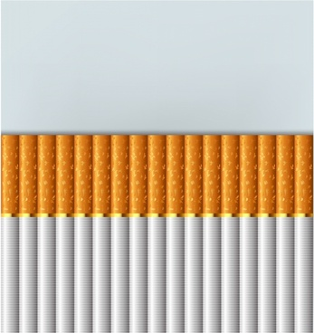 Cigarettes stacked up