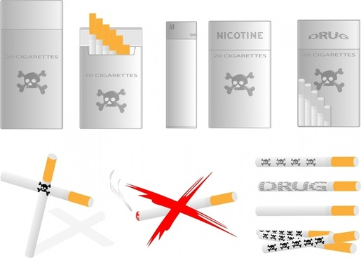 cigarettes design elements modern 3d design