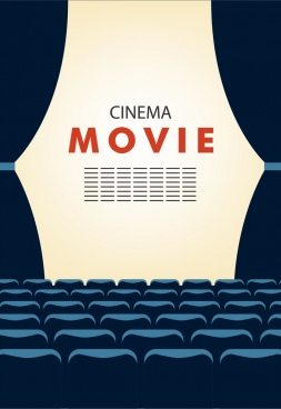 cinema movie background empty seats stage decoration