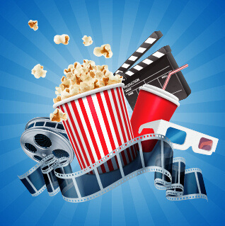 cinema movie vector background graphics