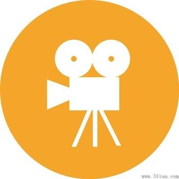 cinematography orange icons vector