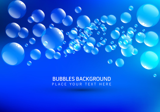 circle bubble blue background