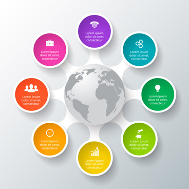 circle business infographic creative vector
