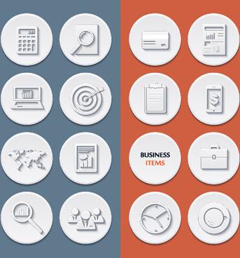 circle flat icons set vectors