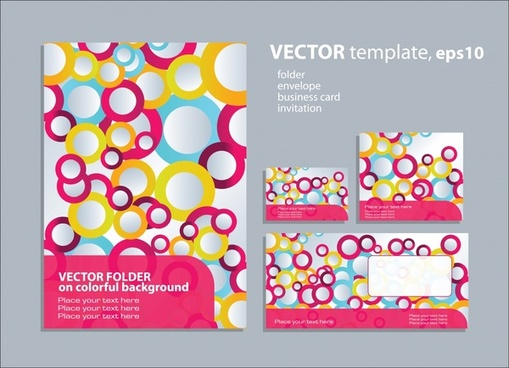decorative background templates modern colorful flat circles