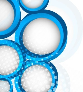 circles elements background white blue 3d decor