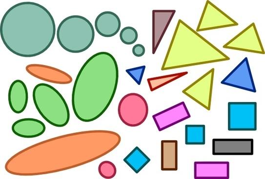 Circles Ellipses Triangles Squares Rectangles Shapes clip art