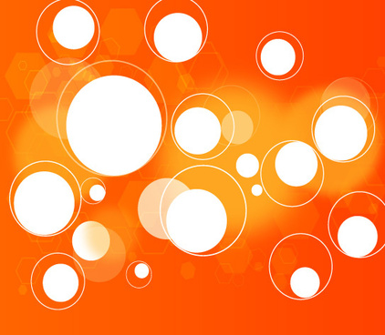 circles in orange background