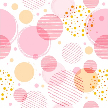 circles pattern multicolored flat shapes sketch
