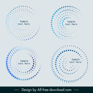 circles templates modern blue spots decor