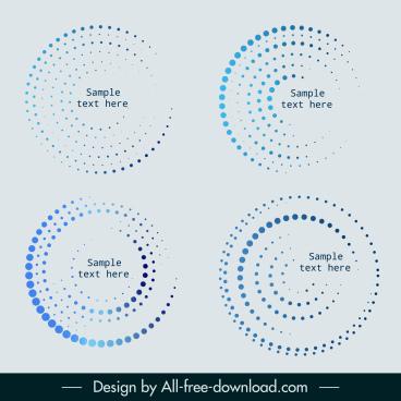 circles templates modern blue spots decor