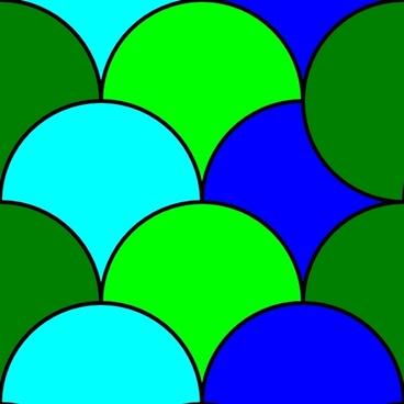 Circles Tile Pattern clip art