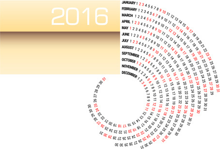circular calendar16 abstract vector