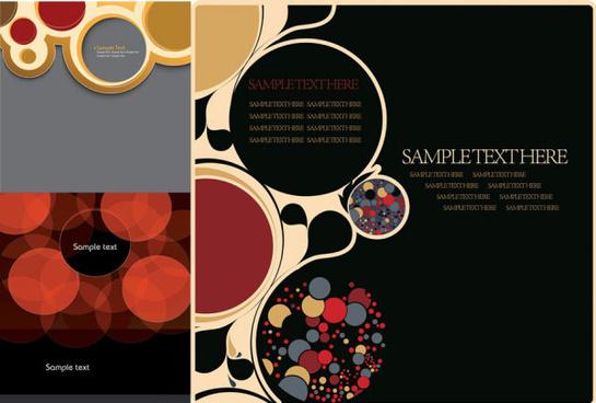 circular concise background art vector