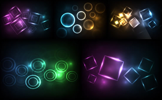 circular light background art
